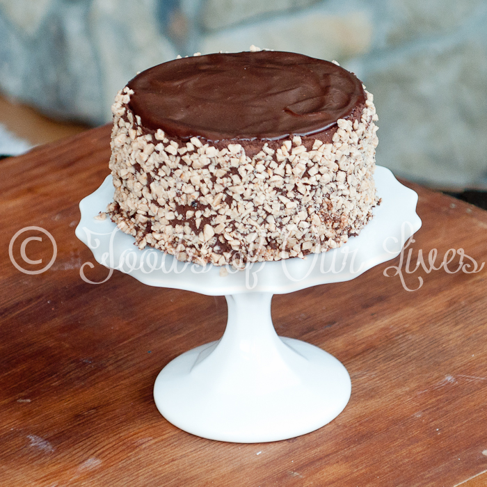Chocolate Ganache Toffee Cake