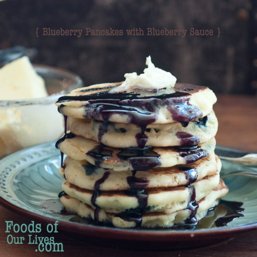 Blueberry Pancakes with Blueberry Syrup2