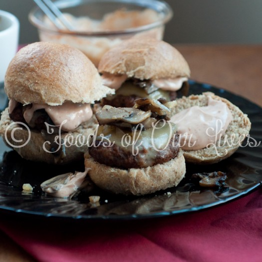 Swiss and Mushroom Sliders