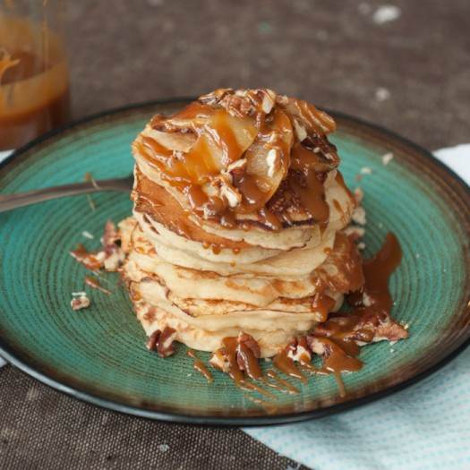 Apple Pancakes with Caramel Apple and Walnut Topping | Foods of Our ...