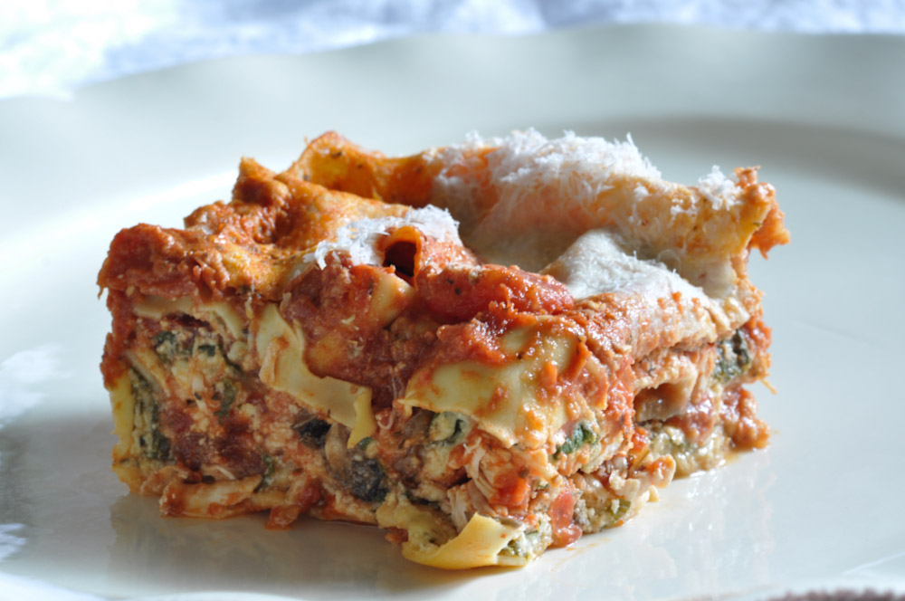 Spinach and Mushroom Lasagna | Foods of Our Lives