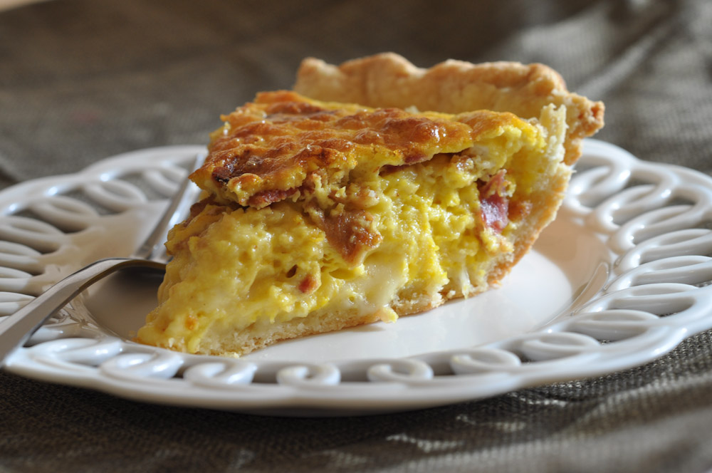 Brie and Bacon Quiche | Foods of Our Lives