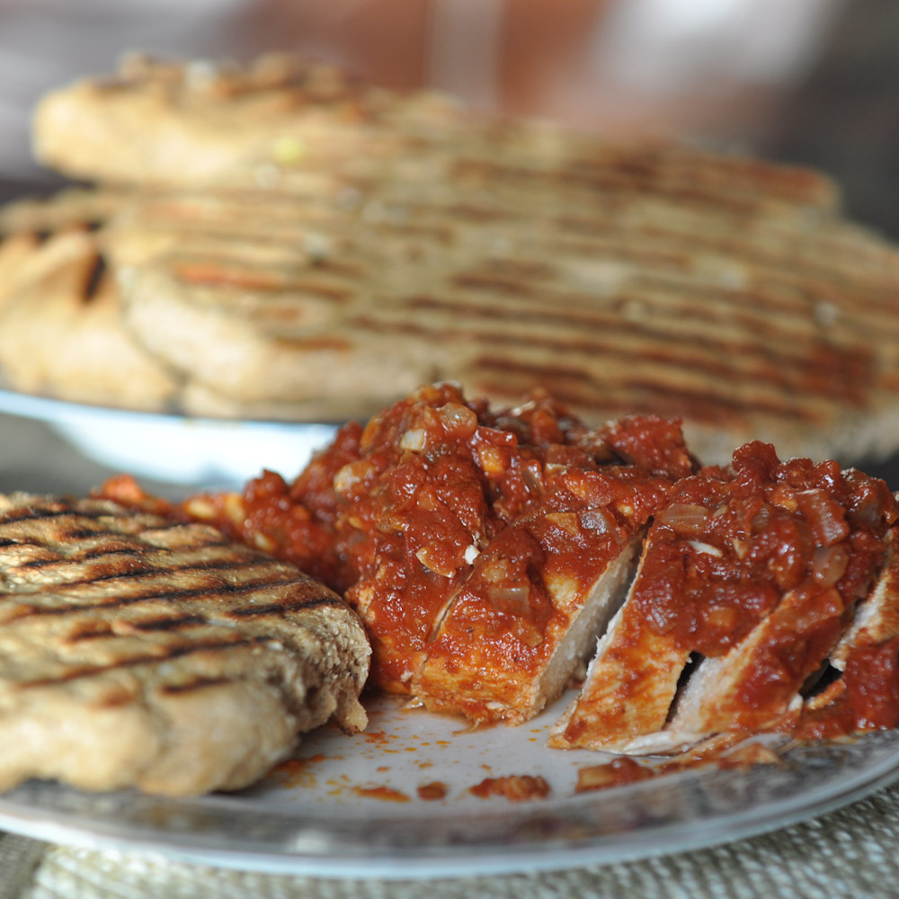 Chicken Vindaloo and Garlic Naan | Foods of Our Lives