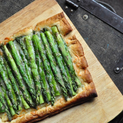 Gruyere and Asparagus Tart
