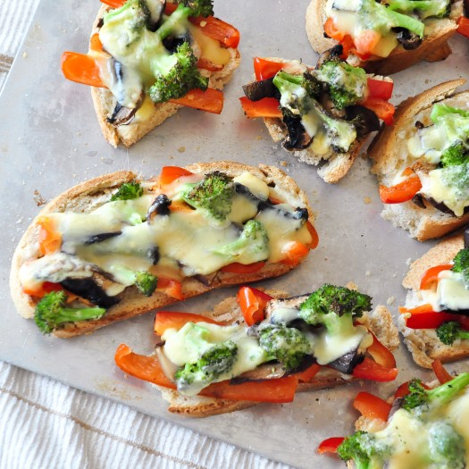 Portabello, Red Pepper and Broccoli Melts