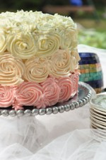 Vanilla Bean Cake with Swiss Merengue Buttercream and Pastry Cream Filling-7
