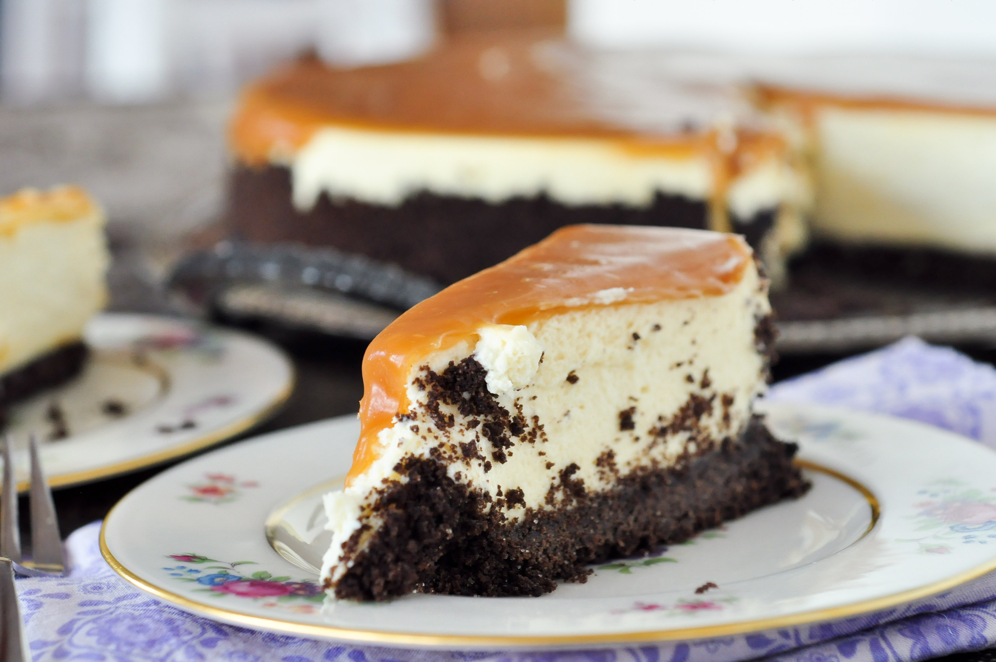 Irish Cream Caramel Cheesecake