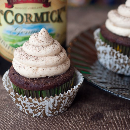 Chocolate Cupcakes with Irish Cream Buttercream