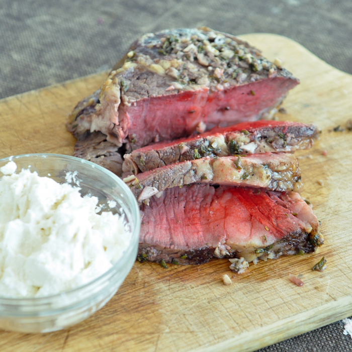 Garlic And Rosemary Crust Beef Tenderloin With Creamy Horseradish Sauce Foods Of Our Lives