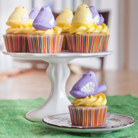 Peep Cupcakes for Easter-3