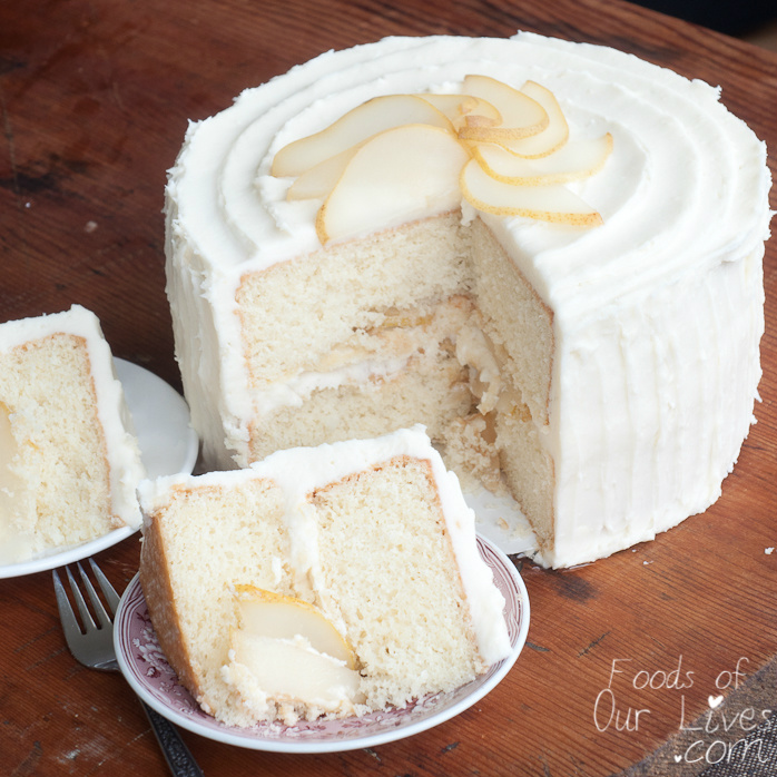 Cake With Cream Frosting : Poached Pear Whipped Cream Cake Foods of Our Lives