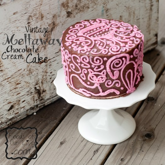 Vintage Meltaway Chocolate Cream Cake