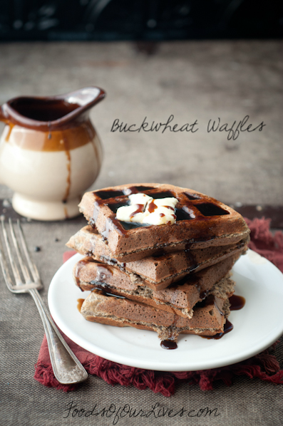 Fluffy Delicious Buckwheat Waffles | FoodsOfOurLives.com