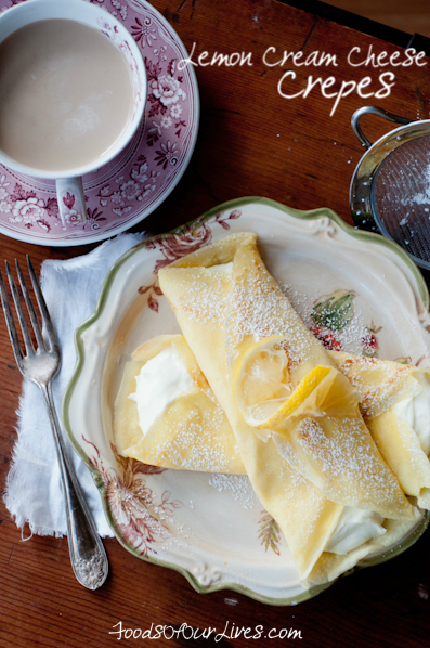 Lemon Cream Cheese Crepes | FoodsOfOurLives.com
